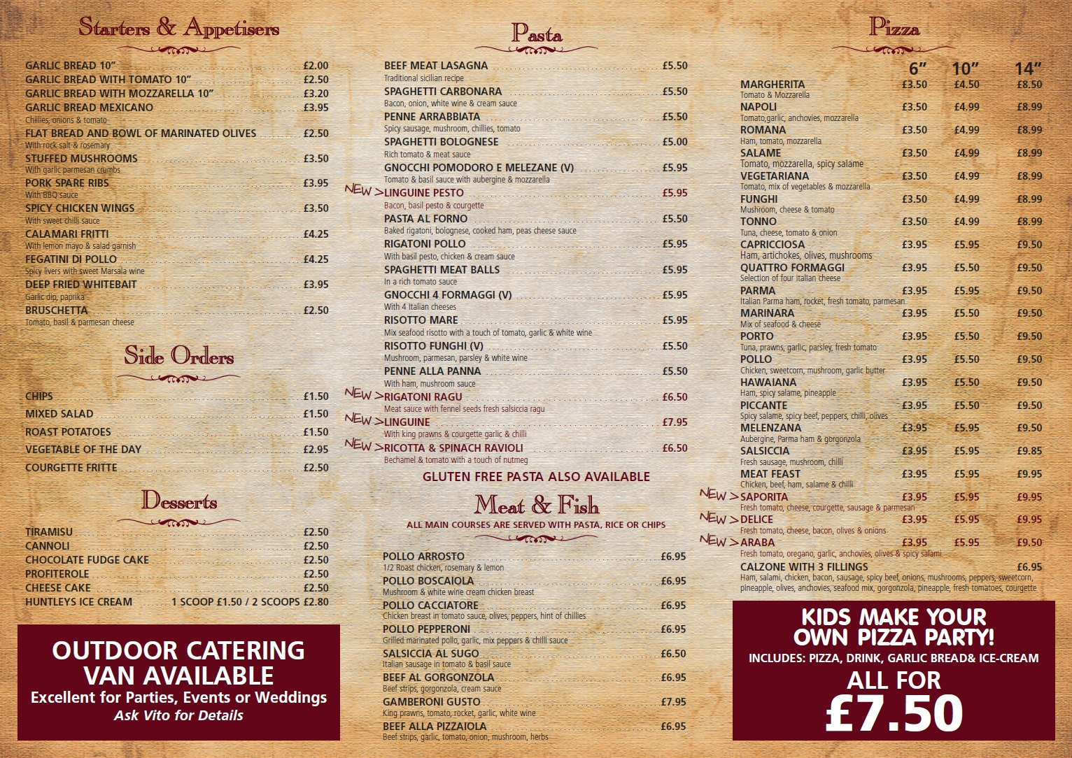 Il Gusto D'Italia Take Away Menu Bamber Bridge Page 2